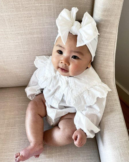 kids Monbebe Romantic Bodysuit - Ivory