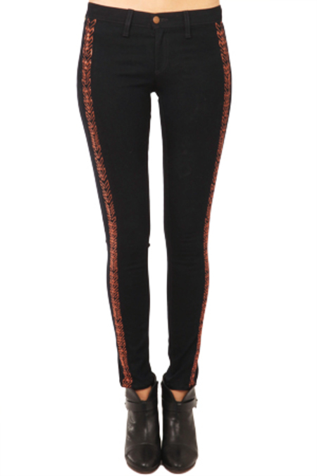 rag & bone JEAN Split Skinny Jeans - Bengal Midnight
