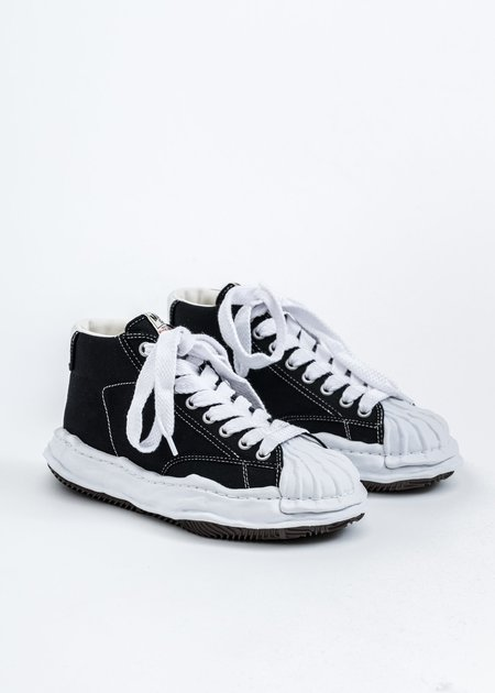 Mihara Yasuhiro Original STC Sole Canvas Hitop Sneaker - Black