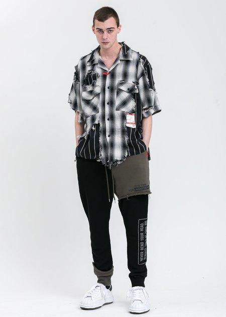 Mihara Yasuhiro Broken Layer Shirt - Black/white