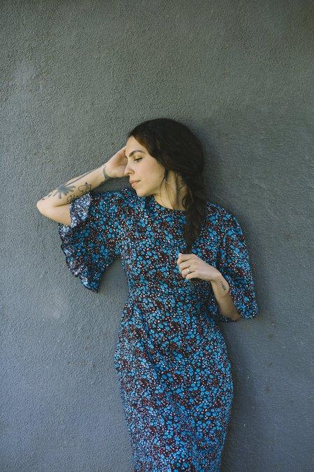Myrtle Beverly Dress - Blue Datura