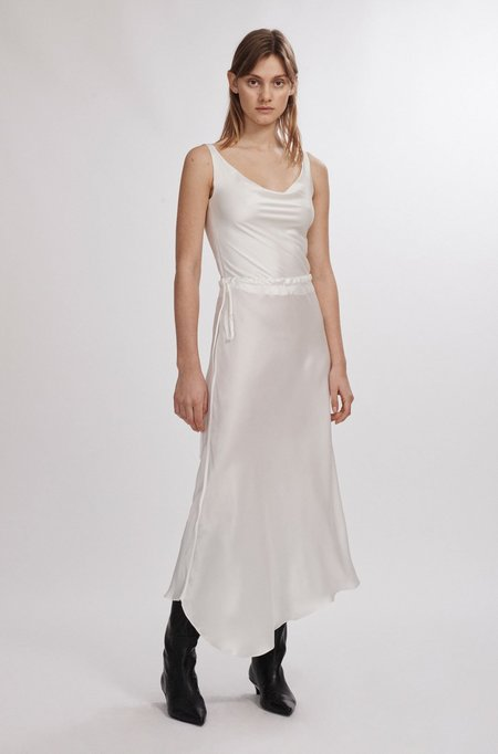 Silk Laundry ASYMMETRIC SKIRT - WHITE