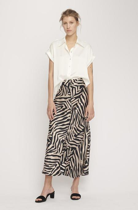 Silk Laundry DROP SHOULDER SHIRT - WHITE
