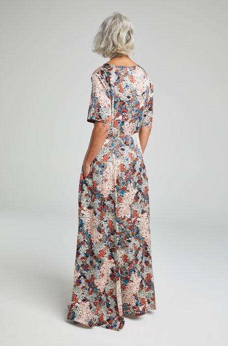 Silk Laundry T-SHIRT DRESS - GARDEN PARTY