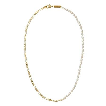 Machete Petite Figaro + Rice Pearl Necklace