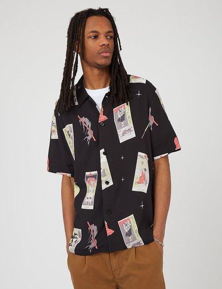 Edwin Tarot Deck Short Sleeve Shirt - Black