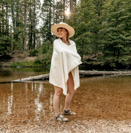 local shade Hemp and Cotton Towel - white