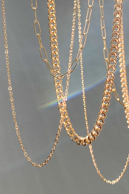 """Thatch 16"""" Elongated Chain - 14k gold filled"""