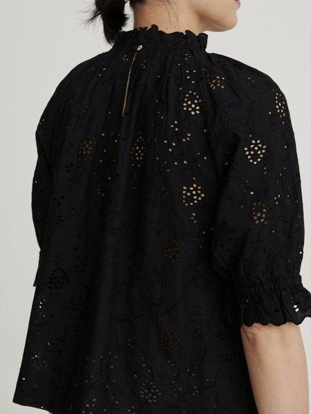 skall studio bay blouse - black