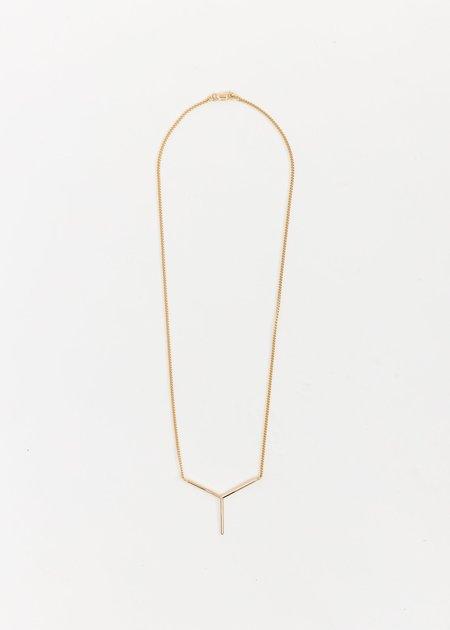 Y/project Mini Y Necklace - Gold