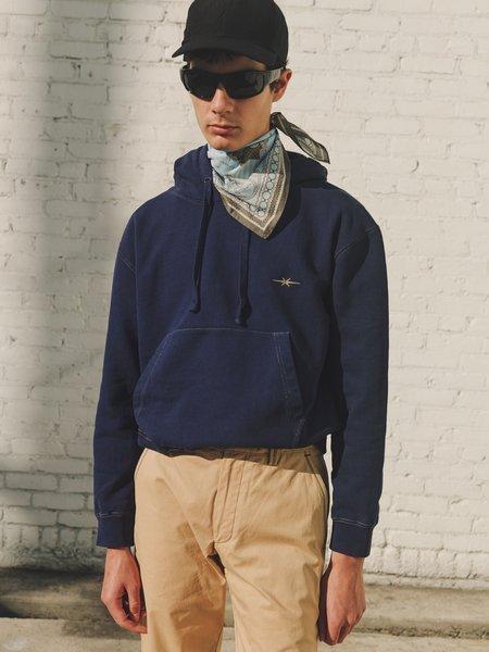 PHIPPS Garment Dye Organic Cotton Sweatshirt Fleece Hoodie - Navy