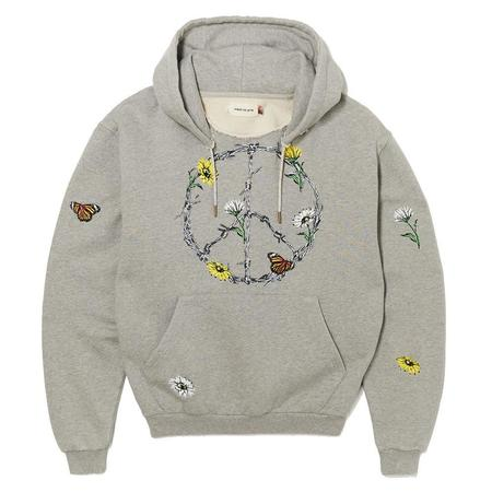 Honor The Gift Iron Peace Hoodie sweater - Athletic Grey
