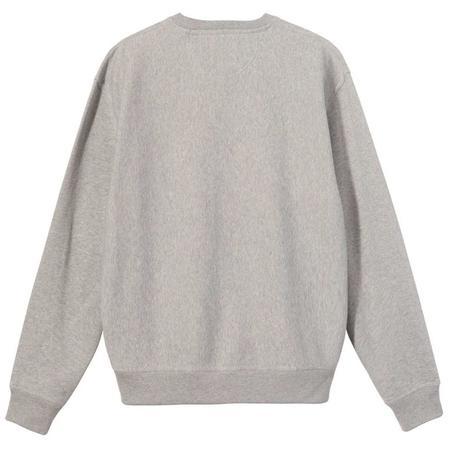 Stussy Stock Logo Crew sweater - Grey Heather