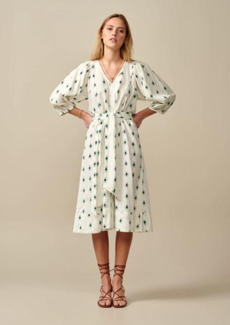 Bellerose Iow Dress - white/green