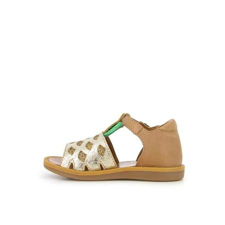 kids pom d'api poppy pineapple shoes - camel