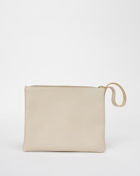 esby Clutch in Bone