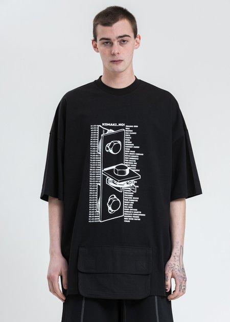 Komakino Guiding Logo And Pocket T-Shirt - Black
