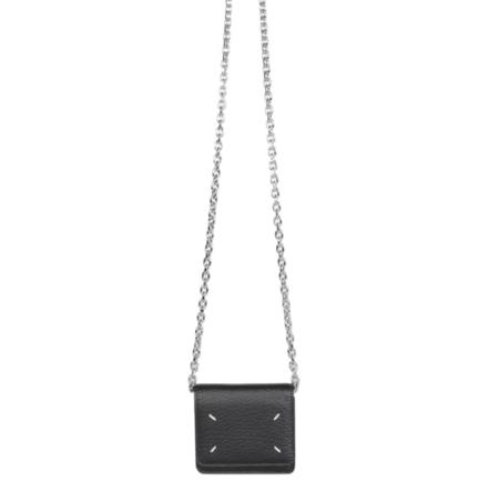 Maison Margiela Small Chain Wallet - Black