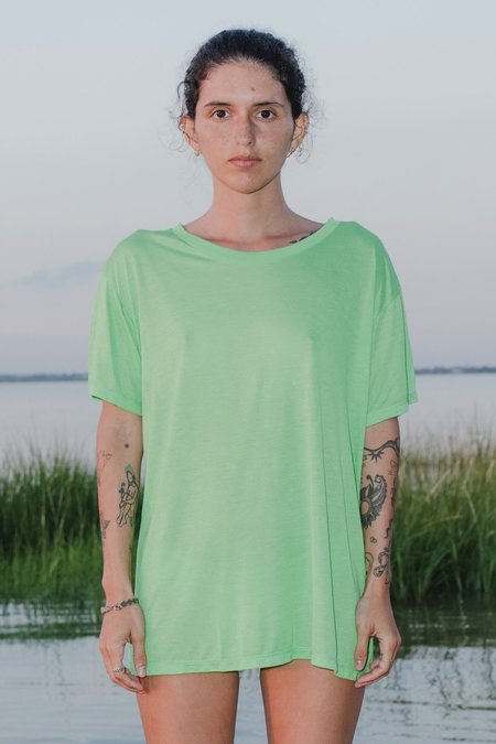 Baserange Loose Tee - Ara Green