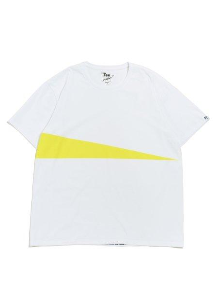 nanamica COOLMAX Graphic S/S Tee - White/Yellow