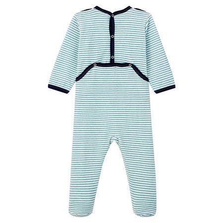 KIDS Petit Bateau Baby Lanice Striped Pyjamas - Blue