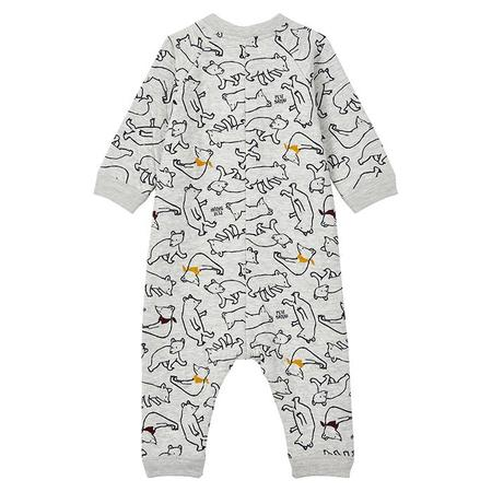 KIDS Petit Bateau Baby Legris Bear Print Jumpsuit - Grey