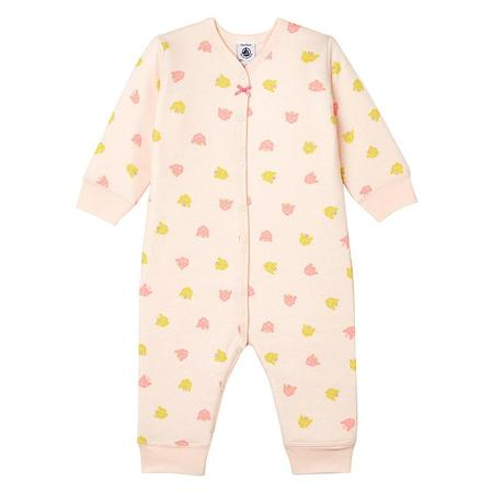 KIDS Petit Bateau Baby Quilted Pyjamas - Pink/Royal Cat Print