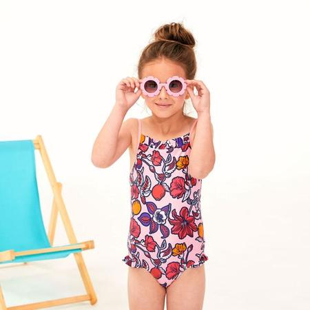 KIDS Petit Bateau Child Swimsuit - Pink Floral Print