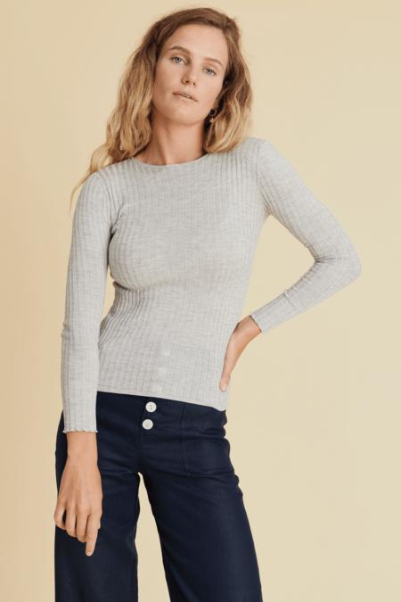 hej hej Kidman Knit sweater - Light Grey