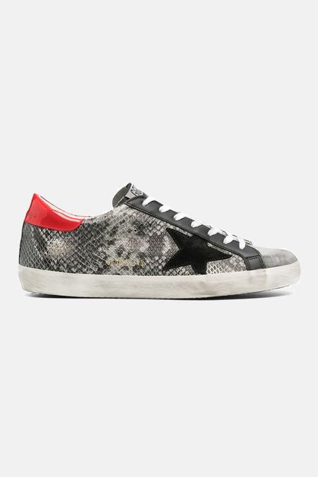 Golden Goose Superstar Shoes - Grey/Red