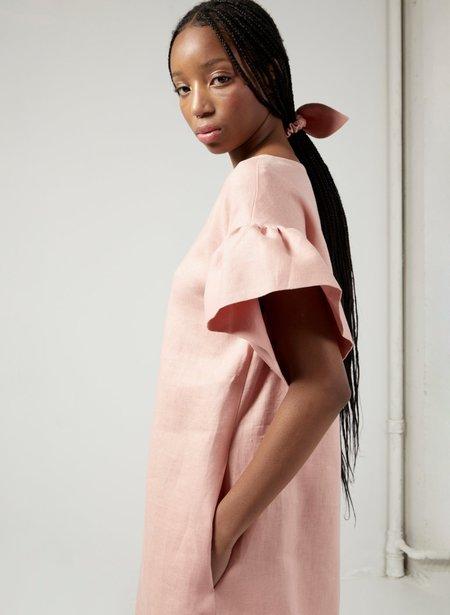 Eliza Faulkner Linen Raffi Dress - Pink