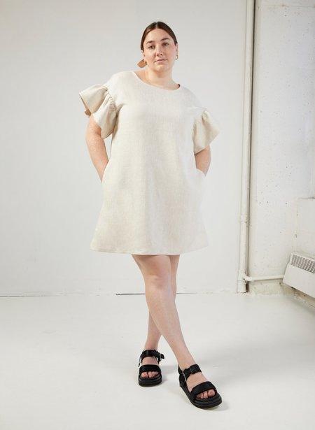 Eliza Faulkner Linen Raffi Dress - Raw