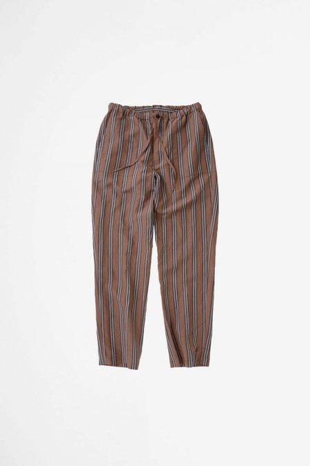 Still By Hand Baker easy pants - brown stripe