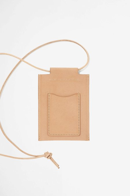 Still By Hand Leather square pouch - tan