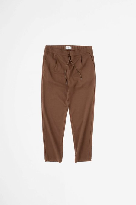 Still By Hand Relaxed jersey pants - brown