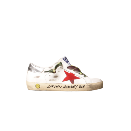 Kids Golden Goose Super-Star Leather Upper Nabuk Star Laminated Heel Signature Foxing GYF00101.F001157.10393 sneakers - white