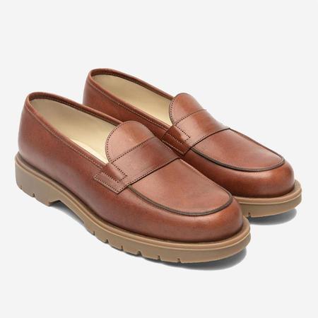 Kleman Etendard Leather Loafer Shoes -  Oak Brique