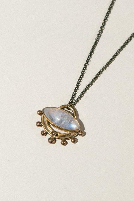 Stray Moonstone Half-Moon Necklace