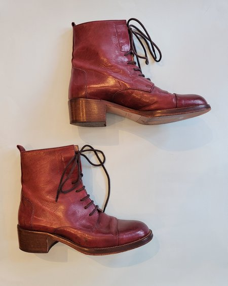 Vintage Joan and David Boots - Burgundy