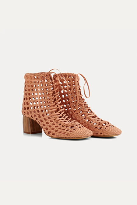 Forte Forte Braided Nappa Chic Booties - Naturale