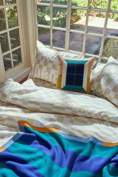 Dusen Dusen Window Embroidered Pillow