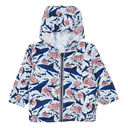 kids Petit Bateau Baby Windbreaker Jacket - Blue Shark Print