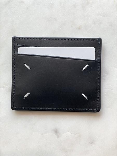 Maison Margiela 1/2 Textured Cardholder - Black