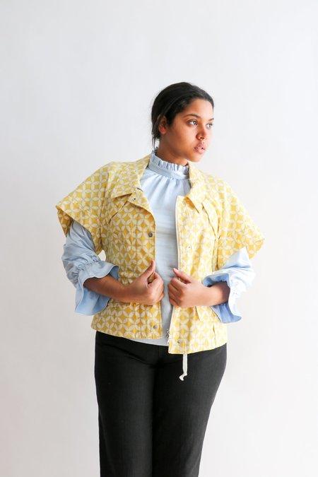 [Pre-loved] Dries Van Noten Printed Short Sleeve Jacket