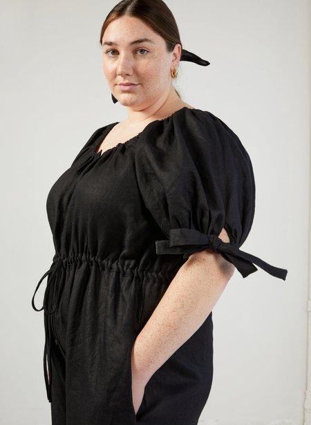 Eliza Faulkner Linen Jumpsuit - Black