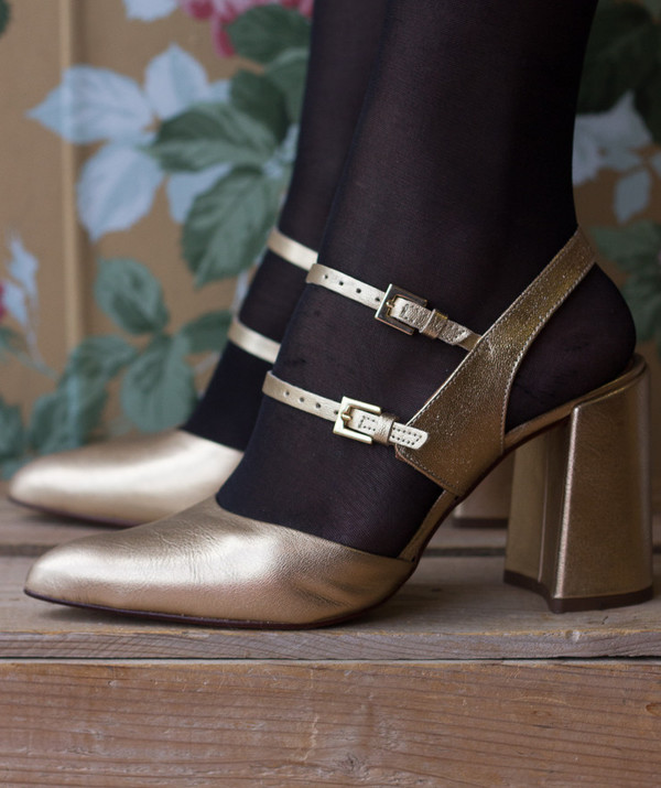 L'intervalle Grove Heels (Gold Leather)