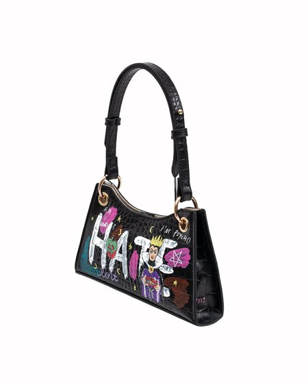 Guernika Paint Minny Leather Evil Queen bag - Black