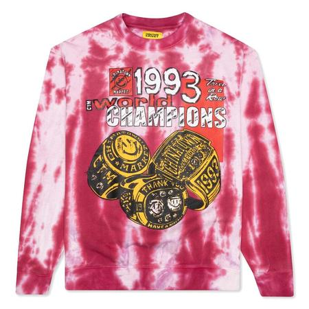 Chinatown Market Smiley Champions 3 Rings Tie-Dye Crewneck sweater - Red