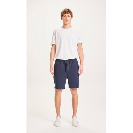 knowledge cotton apparel Fig loose ecovero club shorts - total eclipse