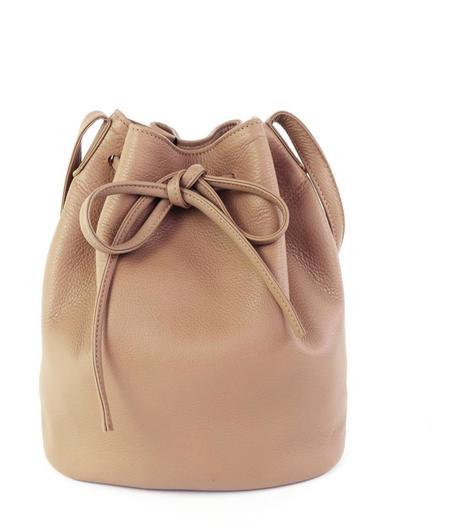 Primecut Leather Bucket Bag - Tan